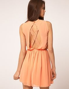 ASOS Skater Dress With Lace Cross Back $71.62