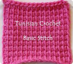 It's time for another Tunisian Crochet Tutorial This one is called the Bias Stitch. It's a lot like the Tunisian Crossed Stitch but has a different look. Tunisian Crochet Patterns, Tunisian Crochet Stitches, Crochet Motifs, Knitting Patterns, Knit Crochet, Free Knitting, Beginner Knitting, Doily Patterns, Crochet Granny