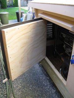 Quiet Portable Generator, Generator Shed, Power Generator, Backyard Projects, Home Projects, Small Sheds, Electrical Projects, Cool Gadgets To Buy, Building A Shed
