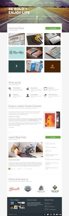 Cluster - A Bold Portfolio Wordpress Theme  #wordpress #theme #website #template #responsive #design #webdesign #flat #flatdesign #portfolio