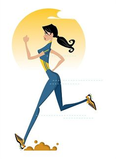 Lady running illustration by Tim Weiffenbach