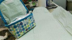 Porta pañales y toallitas con cambiador