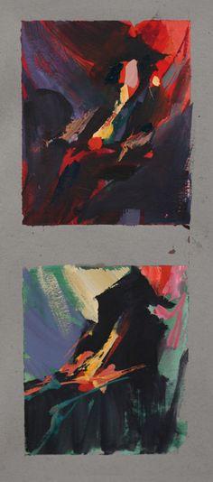 Nathan Fowkes Art: Demo Roughs in Gouache