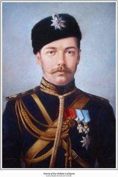 Tsar Nicholas II Of Russia Painting by George Alexander.