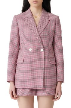 online shopping for maje Vic Houndstooth Blazer from top store. See new offer for maje Vic Houndstooth Blazer Coats For Women, Clothes For Women, Work Clothes, Polished Look, Maje, Work Wardrobe, Jackets Online, Work Attire, Ladies Day