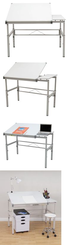 Drawing Boards and Tables 183083: Drafting Drawing Desk Table Workstation  Art Studio Architect Station Dual