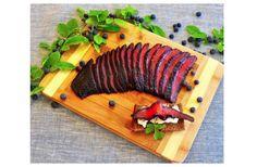 Blueberry Cured Copper River Sockeye Salmon Lox by Diane Wiese Gravlax Salmon Recipe, Wild Salmon Recipe, Salmon Recipes, Seafood Recipes, Salmon Lox, Sockeye Salmon, Salmon Skin, Cheese And Cracker Platter, Lox Recipe