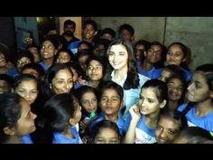 Alia Bhatt celebrates her 24th birthday with little fans.