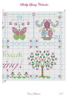 Gallery.ru / Фото #1 - Shabby Spring Calendar - Marina-Melnik