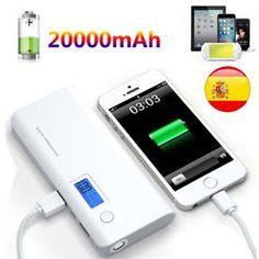 8b6669f73f4 20000mah power bank pack cargador de bateria portatil usb para telefono  movil