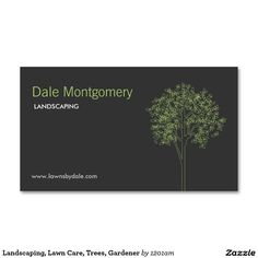 Landscaping, Lawn Care, Trees, Gardener Double-Sided Standard Business Cards (Pack Of 100)