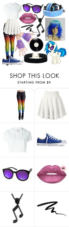 """MLP Vinal Scratch"" by dappershadow ❤ liked on Polyvore featuring Calvin Klein Jeans, Converse, Aquaswiss, BillyTheTree and Eyeko"