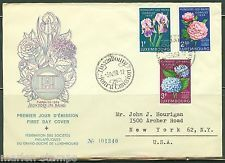 LUXEMBOURG  FIRST DAY COVER  1959 FLOWERS  AS SHOWN
