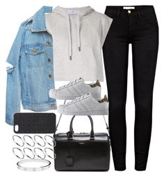 """Untitled #3628"" by plainly-marie ❤ liked on Polyvore featuring Yves Saint Laurent, Frame Denim, adidas, ASOS and Cartier"