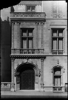 Virginia Fair Vanderbilt House | New York, NY. The entrance to the townhouse of Mrs. W. K. Vanderbilt, Jr., 666 Fifth Ave.