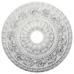 "Ekena Millwork CM23VA 23 1/2""OD x 3 1/2""ID x 2 1/8""P Vaduz Ceiling Medallion (Fits Canopies up to 3 1/2"") CM152875 - ArchitecturalDepot.com"