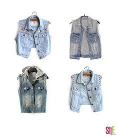 Los chalecos de jean jamás pasarán de moda… tú que opinas   D  demin   sitemagazine 186c69220589