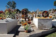 Panteón con flores de Zempazuchil