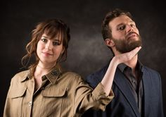 Jamie Dornan and Dakota Johnson just being their silly selves. Look at that jawline ladies!! Drool!! 50 Shades of Christian and Ana