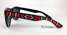 Beaded Sunglasses Red Unisex by RebelinaShop on Etsy