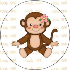 MONKEY  clipart  clip art instant digital by ClipYourStash on Etsy, $0.99