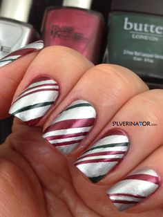 Candy Canes  Christmas  #nail #nails #nailart