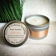 A personal favorite from my Etsy shop https://www.etsy.com/listing/293629425/rose-garden-soy-candle-10oz-double