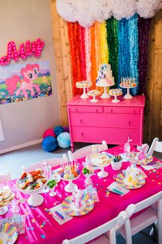 The cutest my little pony party by Jenny Cookies