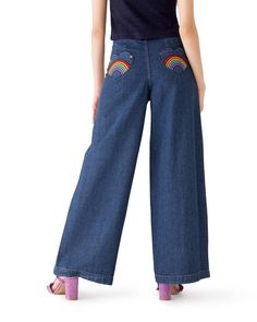 Rainbow Bum Jeans by lazy oaf - jeans - ban.do