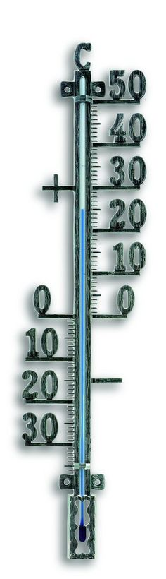 Outdoor Thermometer in Tin Antique Effect