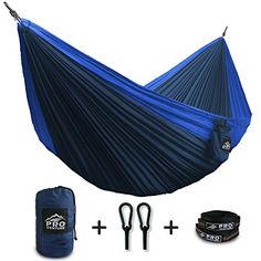 $30 x 2 (blue for Kev and green for me!) Proventure Single Camping Hammock - Lightweight and Compa...