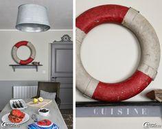 Suspension bassine en zinc J-Line, cuisine d'un appartement de vacances gîtes 'La Maison Matelot' à Port-en-Bessin