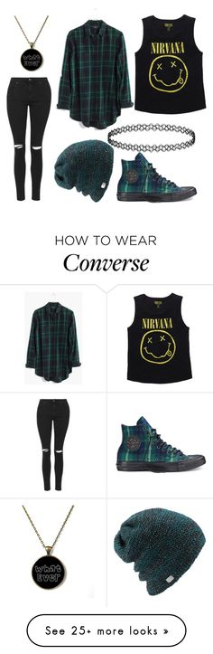 """Untitled #627"" by forever-an-angel on Polyvore featuring mode, Converse, Topshop, Coal en Madewell"