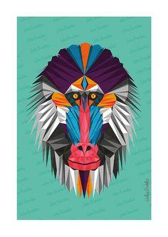 MAURICE - Zoométricos on Behance por Julia Guedes #illustration #geometricart #digitalpainting #artprint #geometricanimals #geometricillustration #zoometricos
