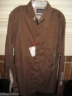 NWT Mens English Laundry Brown Button Front Long Sleeve Shirt Sz L Peoples Army  $39.99	                                                                                            NWT Mens English Laundry Brown Button Front Long Sleeve Shirt Sz L Peoples Army