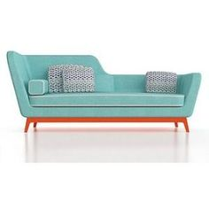 Mid century modern daybed - Eric Berthès Jeremie - (space era, atomic design, furniture) by angie