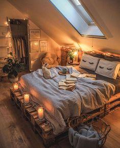 "INTERIOR PORN on Twitter: ""Mood:… "" Room Ideas Bedroom, Home Decor Bedroom, Ideas For Bedrooms, Attic Bedroom Ideas For Teens, Bedroom Furniture Makeover, Room Design Bedroom, Bedroom Night, Modern Bedrooms, Dream Rooms"