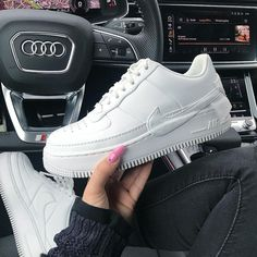 Nike - Air Force 1 Jester - Baskets - Blanc tricolore White Sneakers Nike - Baskets tendances 2019 Streestyle look - Urban look - Air Force 1, Nike Air Force, Nike Air Max, White Sneakers Nike, Custom Sneakers, Platform Sneakers, Asos, Urban Looks, Fashion Articles