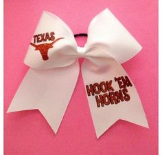 University of Texas Hook 'Em Horns Cheer Bow