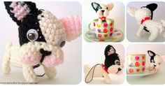 Crafts and crafts Kutxiflor: French bulldog amigurumi : Crafts and crafts Kutxiflor: French bulldog amigurumi Crochet Unicorn Pattern, Crotchet Patterns, Amigurumi Patterns, Knitted Dolls, Crochet Dolls, Patron Crochet, Horse Pattern, Crafty Craft, Cute Crochet