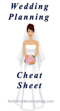 Wedding Planning Cheat Sheet ... what to do when, from engagement to last minute details (no matter how long you have to do it).  engagement ideas