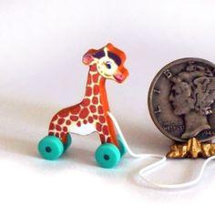 TooTall Giraffe Pull Toy KIT Dollhouse Miniature