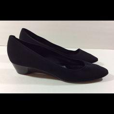 "Salvatore Ferragamo Wedge Shoes Sz 8 1/2 Black A nice pair of Salvatore Ferragamo wedge heel shoes. Size 8 1/2. Heel height: 1 1/2"". Excellent condition! Salvatore Ferragamo Shoes Wedges"