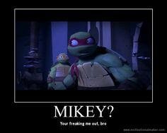 Look at Mikey's face closely O.O