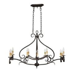sky rever collection flemish 6 light island light