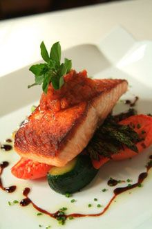 Fine Dining Plate Presentation | SEA FARE The grilled salmon at 1149.