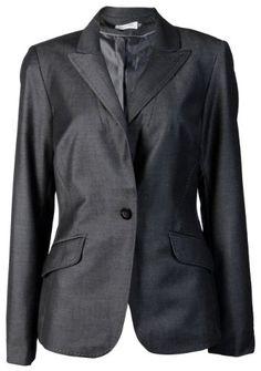30% Off was $129.00, now is $89.99! Calvin Klein Women's Pick Stitch Blazer Jacket Black/Cream