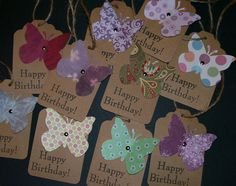 Happy Birthday Gift Tags Set of 10 Handmade by Sassadoodle on Etsy, $5.00 Handmade Birthday Gifts, Handmade Gift Tags, Happy Birthday Gifts, Handmade Invitations, Birthday Tags, Craft Sale, Card Tags, Thing 1, Homemade Cards