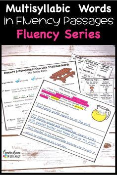 Improve Fluency & Reading Comprehension by using fluency Strategies for struggling readers, guided reading, and reading interventions. Use multisyllabic words to build vocabulary. #secondgrade #thirdgrade #fourthgrade #fifthgrade #conversationsinliteracy #phonics #fluency #comprehension #classroom #elementary #anchorcharts #readinginterventions #guidedreading #vocabulary 2nd grade, 3rd grade, 4th grade, 5th grade