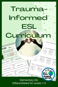 This all-encompassing curriculum provides everything needed to address the language needs of first-grade language learners suffering from traumatic pasts. Unit one covers the topic, feelings, and emotions. Unit two covers the topic, narrative storytelling. It is designed to encourage healing and successful language acquisition for ESL students. School Resources, Teacher Resources, Teaching Ideas, Teacher Tools, Teacher Pay Teachers, Ell Students, Social Emotional Learning, Classroom Inspiration, Elementary Teacher